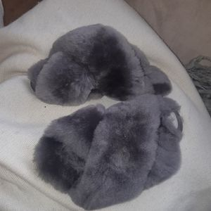 Ugg grey wool sandals  slippers 8
